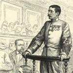 Marie-Georges PICQUART, militaire - au procès de Victor Hugo - L'Illustration, février 1898