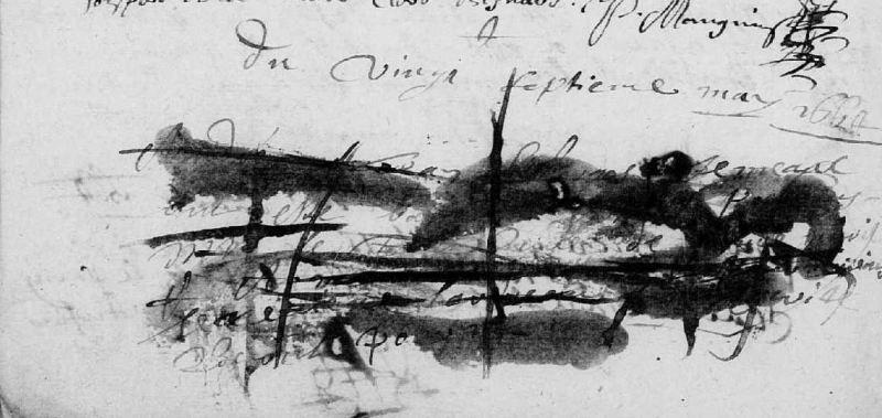 Coup de blanco, 1662, registre BMS de La Chapelle Souef, Orne | AD 61 - vue 123