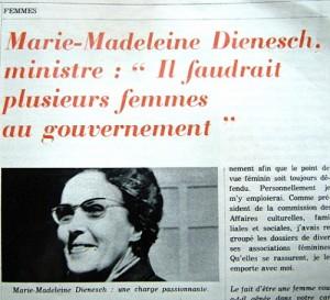 Marie-Madeleine DIENESCH (1914-1998), femme politique