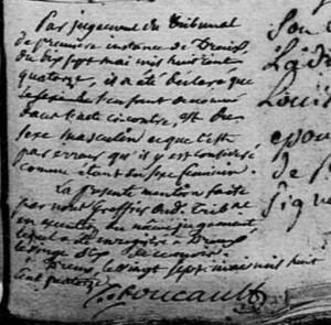 Mention marginale sur l'acte de baptême de Marie Marguerite MÉTEY, 1792, Bû, Eure-et-Loir | AD28, cote 3 E 064/004, BMS 1768-1792, vue 367
