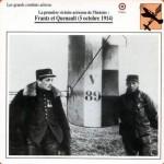 Fiche Aviation - Frantz et Quenault - 5 octobre 1914 - 1ère victoire aérienne