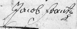 signature de Jacob (Jacques) FRANTZ, 1822