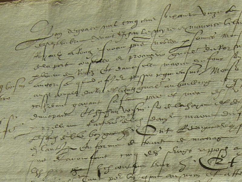 Contrat de mariage, 1571 - Tabellionage de Rouen | Archives Départementales de Seine-Maritime