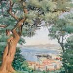 La baie d'Alger, 1936, par Odette FERRU, née en 1915, peintre orientaliste | askart.com