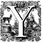 Lettrine Y - Dictionnaire de Napoleon Landais, 1834