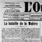 L'Ouest Eclair (Rennes) - une du 17 octobre 1912 - extrait
