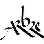 Arbre, calligraphie de Frank LALLOU
