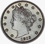 Pièce américaine de 5 cents en nickel, Liberté