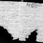 Registre paroissial à trous, 1692, Dame-Marie (Orne) | AD 61 - cote 3E2/142/1 - BMS 1692-1759 - vue 3