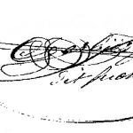 signature de Jean Baptiste GERBIER (1835-1890)
